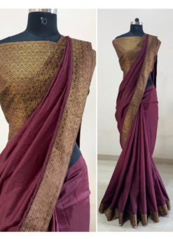 Falsa Dola Silk Zari Border Party Wear Saree