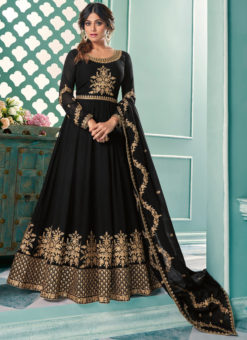 Party Wear Georgette Embroidered Work Designer Anarkali Suit