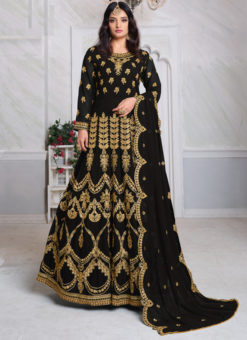 Aanaya Black Georgette Embroidered Work Designer Eid Salwar Suit