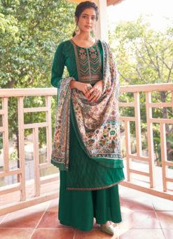 Lavish Yellow Embroidered Work Cotton Designer Salwar Suit