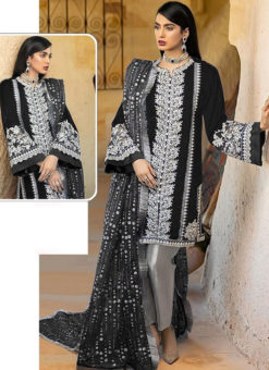 Black Georgette Sequance Work Designer Pakistani Suit