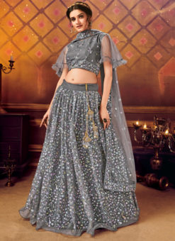 Designer Sequance Work Party Wear Light Purple Lehenga Choli