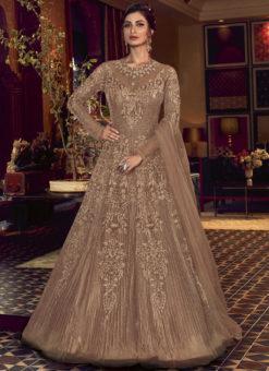 Swagat Chicku Net Embroidered Work Designer Floor Length Anarkali Suit