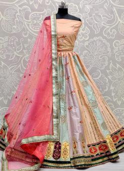 Embroidery And Mirror Work Designer Katiyawadi Wedding Lehenga Choli